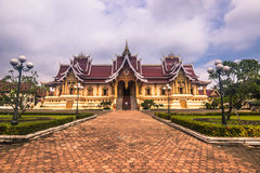 26 de setembro de 2014: Palácio nesse Luang, Vientiane, Laos Fotos de Stock Royalty Free