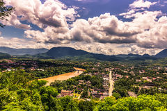 20 de setembro de 2014: Panorama de Luang Prabang, Laos Imagem de Stock Royalty Free