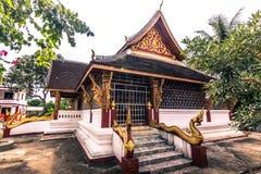 20 de setembro de 2014: Templo budista em Luang Prabang, Laos Foto de Stock Royalty Free