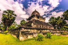 20 de setembro de 2014: Templo de Wat Wisunarat em Luang Prabang, Laos Foto de Stock Royalty Free