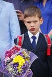 1º de setembro, dia do conhecimento na escola do russo Dia do conhecimento Primeiro dia da escola Imagens de Stock