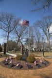 11 de setembro memorial com as colunas do mundo Trad Imagem de Stock Royalty Free