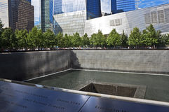 11 de setembro memorial, New York City Imagem de Stock