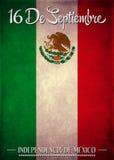 16 de setembro texto mexicano do espanhol do Dia da Independência Imagem de Stock Royalty Free
