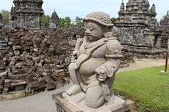 De Sewutempel is de tweede - grootste Boeddhistische tempel complex in Java royalty-vrije stock afbeeldingen