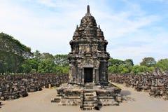 De Sewutempel is de tweede - grootste Boeddhistische tempel complex in Java stock afbeeldingen