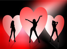 De sexy Achtergrond van de Valentijnskaart Stock Foto