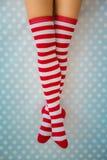 De sexy benen van de Kerstmanvrouw Royalty-vrije Stock Afbeeldingen