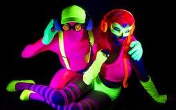 De sexy danser van de neon uvgloed royalty-vrije stock foto