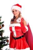 De Sexy Helper van de kerstman stock fotografie