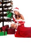 De Sexy Helper van de kerstman stock foto