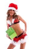 De sexy helper van de kerstman. royalty-vrije stock foto's