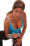De sexy Vrije Training van het Gewicht Stock Afbeeldingen
