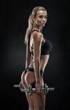 De sexy vrouw die van Nice training met domoor doen Stock Afbeeldingen