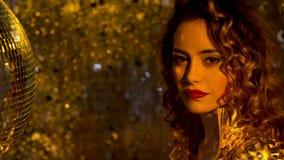 De sexy vrouw van de discodanser stock videobeelden