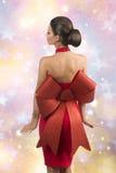 De sexy vrouw van Kerstmis Stock Fotografie