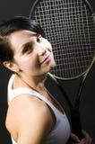 De sexy vrouwelijke jongelui van de tennisspeler Royalty-vrije Stock Fotografie