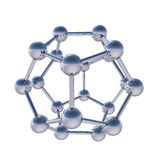 De sferische moleculaire structuur van Chrome Stock Afbeeldingen