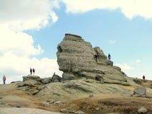 De Sfinx bij het Natuurreservaat van Bucegi Stock Foto