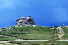 De Sfinx - een symbool van de Karpatische vorming van de bergenrots Stock Foto's