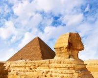 De sfinx in Egypte Royalty-vrije Stock Foto