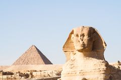 De Sfinx in Giza Royalty-vrije Stock Foto