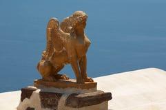 De sfinx van het standbeeld Stock Afbeeldingen