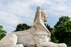 De Sfinxstandbeeld van Egypte stock afbeelding