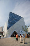 De Shanghai-Staat van Expo 2010 het Paviljoen van het Net Stock Afbeeldingen