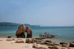 De Shenzhen Meisha de playa del parque de Gold Coast filón para siempre Imágenes de archivo libres de regalías