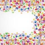 de shinny van het de bolkader van de regenboogkleur glanzende achtergrond Stock Afbeelding