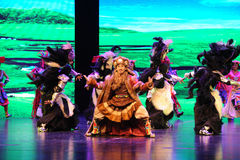  de show†de scénarios d'échelle de yaks de plateau danse-grand le  de legend†de route Image libre de droits