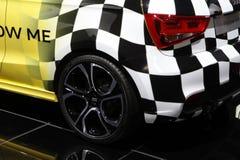 Achterdetail van Audi-zaalauto Royalty-vrije Stock Afbeelding