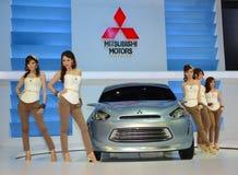 De Show van de Motor van Bangkok - Mitsubishi Stock Afbeeldingen