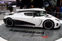 De Show van de Motor van Genève 2011 â Koenigsegg Agera R Royalty-vrije Stock Afbeelding