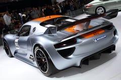 De Show van de Motor van Genève 2011 â Porsche 918 RSR Stock Foto