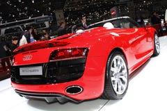 De Show van de Motor van Genève 2011 â R8 5.2 Quattro Spyder Stock Afbeelding