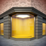 De showcase van de hoek in klassieke stijl. vector illustratie
