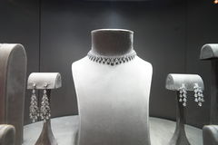 De showcase van de juwelenopslag Royalty-vrije Stock Afbeeldingen