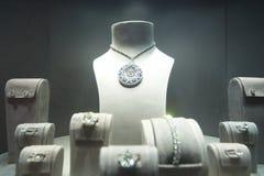 De showcase van de juwelenopslag Royalty-vrije Stock Fotografie