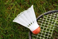 De shuttle van het badminton Stock Foto