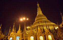 De Shwedagon-Pagode, Yangon, Myanmar Royalty-vrije Stock Foto
