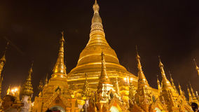 De Shwedagon-Pagode, Yangon, Myanmar Stock Afbeelding