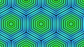 De sier geometrische van de het patroon Nieuwe kwaliteit van de caleidoscopehexuitdraai muziek van de de motie dynamische geanime stock footage
