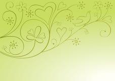 De sierachtergrond van de valentijnskaart royalty-vrije illustratie