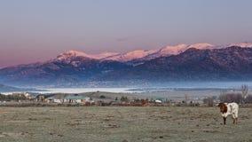 de sierra Guadarrama wschód słońca Zdjęcie Royalty Free