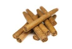 De sigarenachtergrond van de close-up Royalty-vrije Stock Foto's