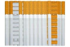 De sigaretten liggen een stapel. Royalty-vrije Stock Fotografie