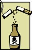 De sigaretten zijn een langzaam effect vergift stock illustratie