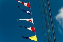 De signaalvlaggen Royalty-vrije Stock Foto